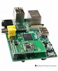 RaZberry, установленная на плату компьютера Raspberry Pi