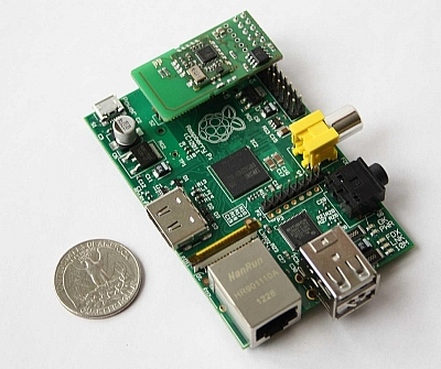 Raspberri Pi with RaZberry extention board